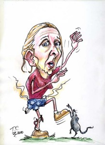 gillian mckeith caricature cartoon