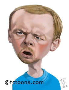 simon pegg caricature photoshop digital drawing
